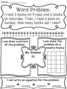 Adding 3 Numbers Word Problems Pack