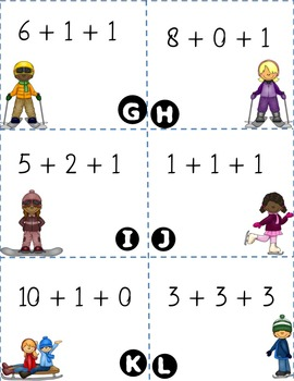 Adding 3 Numbers: Write the Room Activity! {{Winter Version}} ~CCSS Aligned~