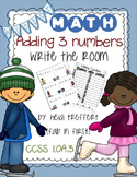 Adding 3 Numbers: Write the Room Activity! {{Winter Versio