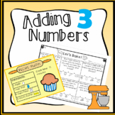 Adding 3 Numbers center Activity