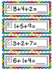 Adding 3 Single-Digit Numbers Scoot Game/Task Cards