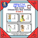 Adding 3 Two Digit Numbers   Chinese New Year Animals  Tas
