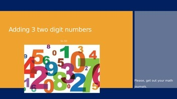 Power Point Adding 3 Two Digit Numbers