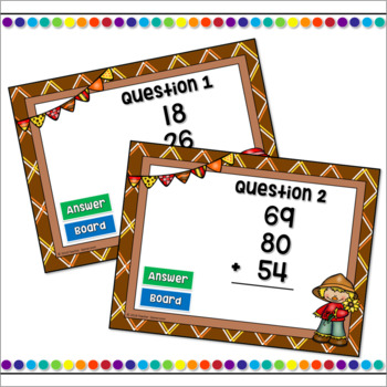 Adding 3 Two Digit Numbers Powerpoint Game