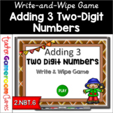 Adding 3 Two Digit Numbers Powerpoint Game Distance Learning