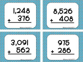 Addition with Regrouping: Adding 3 and 4 digit numbers