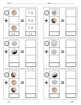 Adding 3 coins Practice