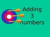 Adding 3 numbers dartboard