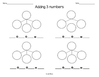 Adding 3 numbers number bonds
