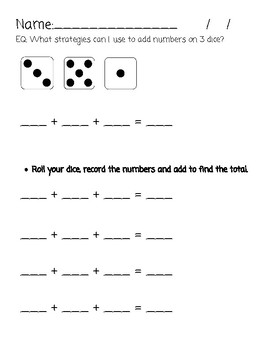 Adding 3 numbers (single digit)