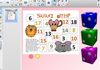 Adding 3 one-digit numbers SMARTboard activity