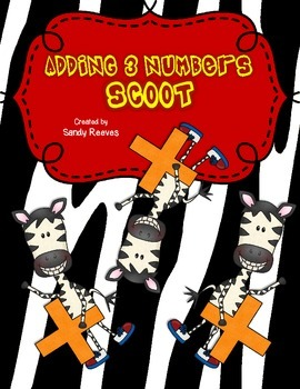Adding 3 one digit numbers math Scoot game!