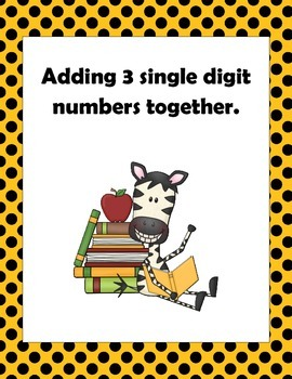 Math: Adding 3 one digit numbers together