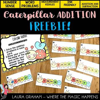 Adding 4 2-Digit Numbers 2nd Grade Math Center FREE!