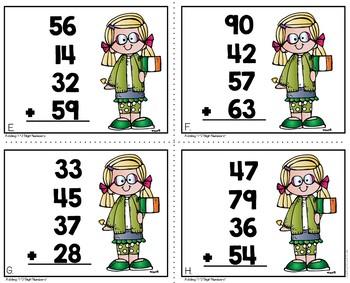 Adding 4 2-Digit Numbers