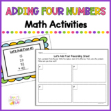 Adding 4 Numbers Activities