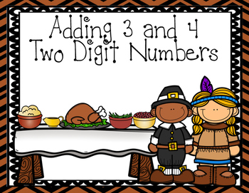 Adding 4 Two-Digit Numbers