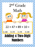 Adding 4 Two-Digit Numbers 2nd Grade Math (2.NBT.6)