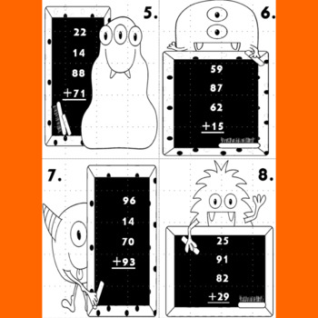 Adding 4 Two-Digit Numbers Task Cards