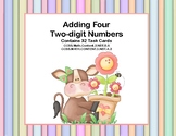 Adding 4 Two-digit Numbers-Task Cards-Grades 2-3 Spring