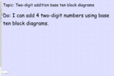 Adding 4 Two digit numbers