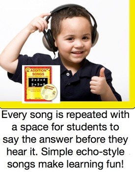 Adding 7+1 to 7+9 Song MP3 from Addition Songs - Audio Memory / Kathy Troxel
