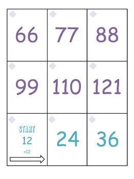Adding 9's, 10's, 11's, & 12's Treasure Hunt Math Game