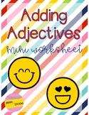 Adding Adjectives Mini Worksheet