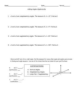 Adding Angles Algebraically