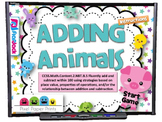 Adding Animals Smart Board Game (CCSS.2.NBT.B.5)
