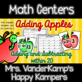 Adding Apples Math Center [[Adding and Subtracting to 20]]