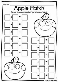 Addition Games - Adding Apples Set