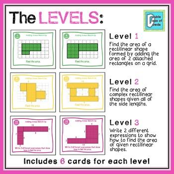 Adding Areas Matching Game
