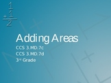 Adding Areas PowerPoint CCS 3.MD.7c and 3.MD.7d