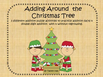 Adding Around the Christmas Tree: 3 addition puzzle activities
