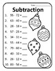 Subtracting Christmas Subtraction Worksheets Christmas Math Subtraction Pages