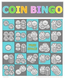 Money Math - Adding Coins Bingo Cards - 30 Unique Cards!