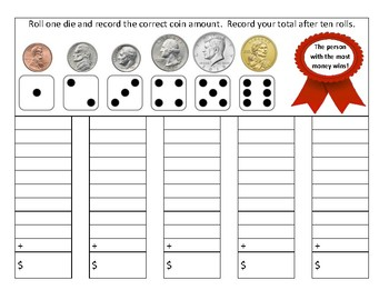 Adding Coins Game for Second Grade Math