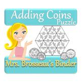 Money Math - Adding Coins Puzzle (US Version)