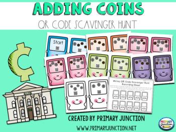 Adding Coins QR Code Scavenger Hunt