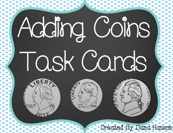 Adding Coins Task Cards