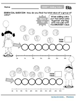 Adding Coins Tutorial Worksheets