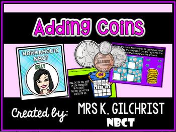 Adding Coins Under $1.00 Promethean ActivInspire Flipchart Lesson