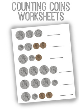 Coin Adding Worksheets