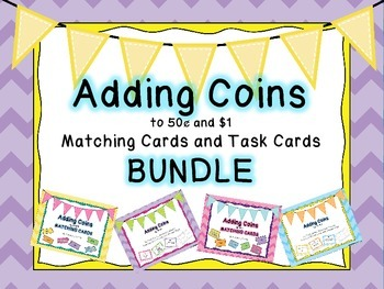 Adding Coins to 50¢ and $1 BUNDLE
