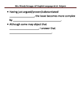 Adding Commentary in Your Essays--Honors & Advanced Placement