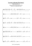 Adding Counting - 5 Rhythm Worksheets