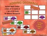 Adding Decimal Dominos Math Center Nautical