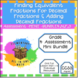 Decimal Fractions Assessment - Mini Bundle 4.NF.5