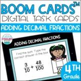 Adding Decimal Fractions BOOM CARDS™ Digital Task Cards